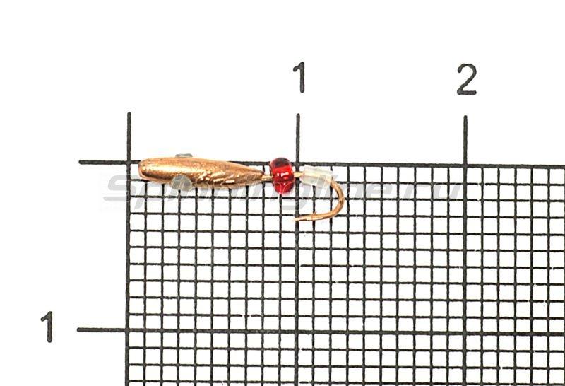 Мормышка Рыболов-Олта Овсинка с отверстием и кембриком d2 медь -  1