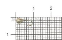 Мормышка Рыболов Капля с отверстием и кембриком d3 серебро