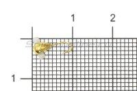 Мормышка Рыболов Капля с отверстием и кембриком d3 золото