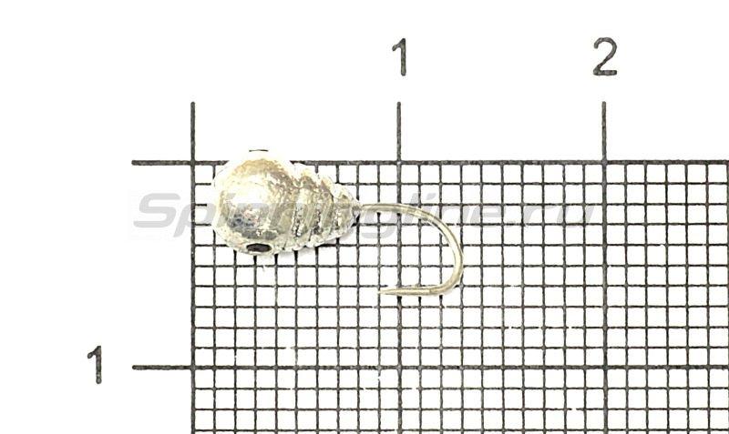 Мормышка Рыболов-Олта Капля с насечкой, отверстием и кембриком d5 серебро -  1