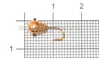 Мормышка Рыболов-Олта Капля с насечкой, отверстием и кембриком d5 медь