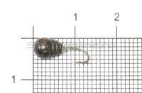 Мормышка Рыболов-Олта Капля с насечкой, отверстием и кембриком d5 черный