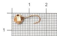 Мормышка Рыболов-Олта Круглая граненая с отверстием и кембриком d5 медь