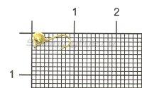 Мормышка Рыболов-Олта Шар граненый с ушком d3 золото