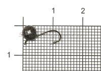 Мормышка Рыболов-Олта Шар граненый с ушком d5 черный