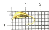 Мормышка Рыболов-Олта Банан пузатый с ушком d5 золото