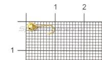 Мормышка Рыболов-Олта Диско с отверстием d3 золото