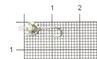 Мормышка Рыболов-Олта Диско с отверстием d5 серебро