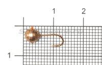 Мормышка Рыболов-Олта Диско с отверстием d5 медь