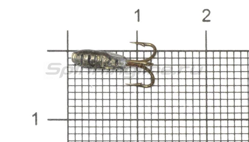 Мормышка Рыболов-Олта Чертик с рифлением с отверстием d2.9 черный -  1