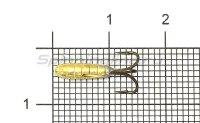 Мормышка Рыболов Чертик с рифлением с отверстием d3 золото