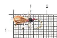Мормышка Рыболов-Олта Капля с мухой с ушком d5 медь