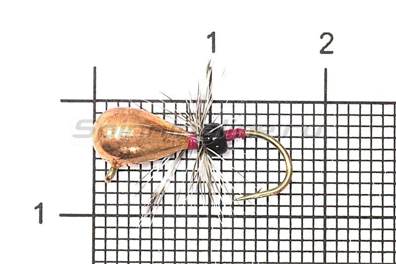 Мормышка Рыболов-Олта Капля с мухой с ушком d5 медь -  1
