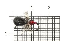 Мормышка Рыболов-Олта Капля с мухой с ушком d5 черный никель