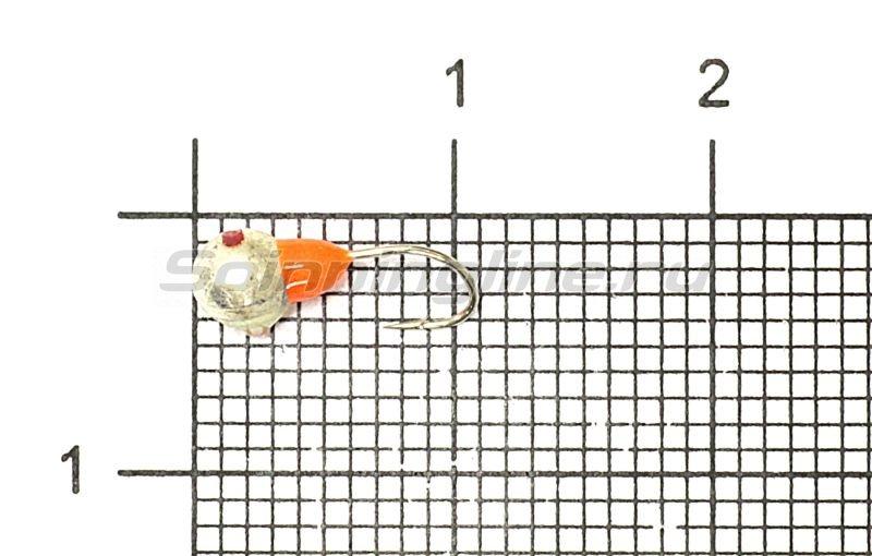 Мормышка Рыболов-Олта Полусфера с фосфорной заливкой с отверстием d4 серебро -  1
