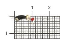 Мормышка Рыболов Уралка с коронкой с отверстием d2.5 никель