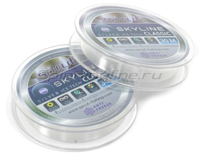 Флюорокарбон Sprut Skyline Fluorocarbon Composition Classic 30м 0,125мм -  1