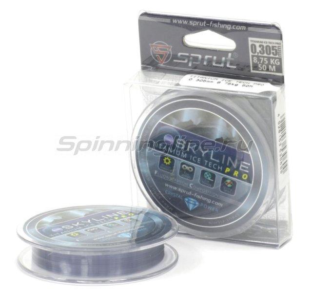 Леска Sprut SkyLine Fluorocarbon Composition IceTech Pro 50м 0,105мм Titanium -  1