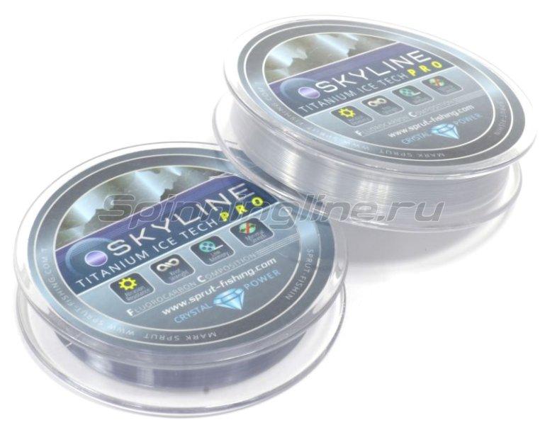 Леска Sprut SkyLine Fluorocarbon Composition IceTech Pro 50м 0,105мм Titanium -  2