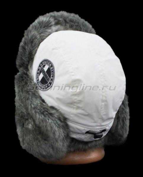 Ушанка Lappi белый барсук шеврон -  3