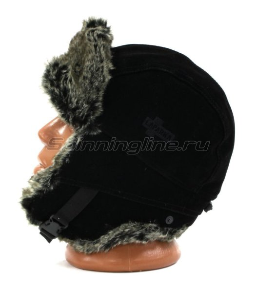 Ушанка Laparka Lappi черный крек-шиншилла -  5
