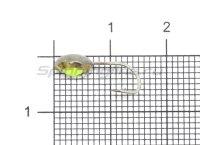 Мормышка светящаяся с коронкой Глазок звездочка большая, латунь крючок №10