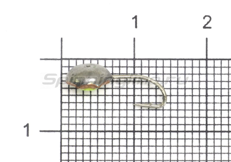 Мормышка светящаяся с коронкой Глазок звездочка малая, медь крючок №12 -  1