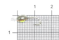 Мормышка светящаяся с коронкой Глазок капля малая, медь крючок №12