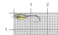 Мормышка светящаяся с коронкой Глазок лодочка малая, латунь крючок №12