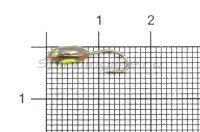 Мормышка светящаяся с коронкой Глазок лодочка малая, медь крючок №12