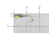 Мормышка светящаяся с коронкой Глазок муравей, медь крючок №10