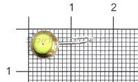Мормышка светящаяся с коронкой Глазок шарик большой, латунь крючок №10