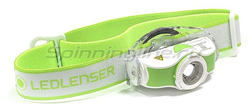 Фонарь Led Lenser MH3 зеленый/белый -  1