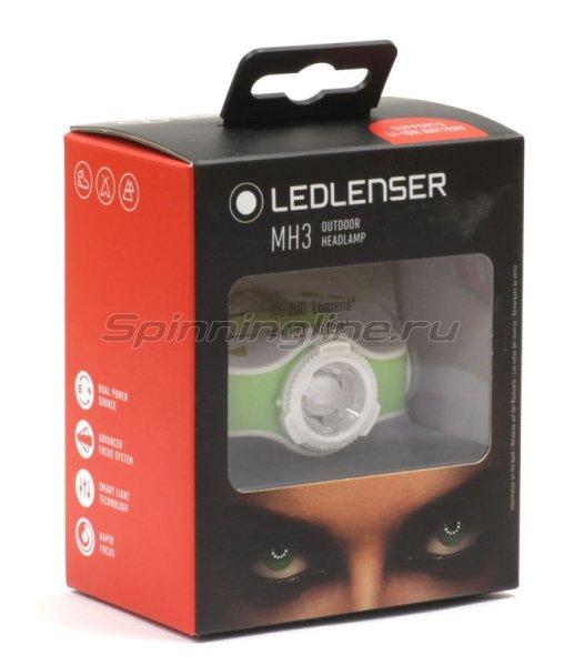 Фонарь Led Lenser MH3 зеленый/белый -  4