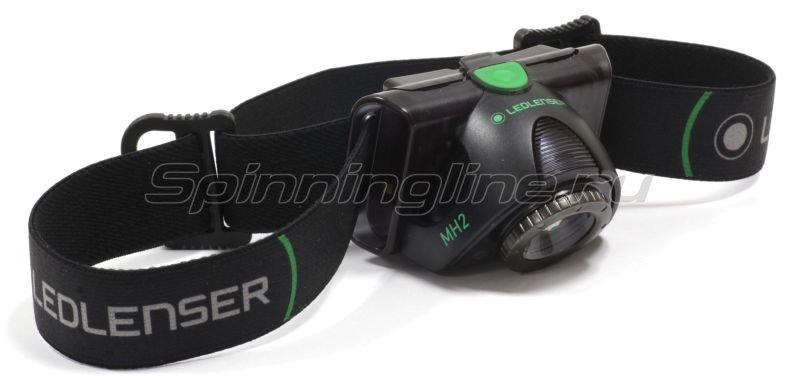Фонарь Led Lenser MH2 черный -  1