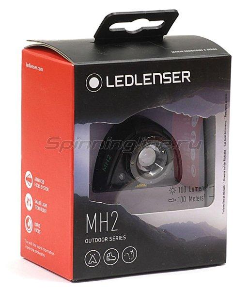 Фонарь Led Lenser MH2 черный -  4