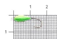 Мормышка Shape светящаяся Овсинка №10 зеленый