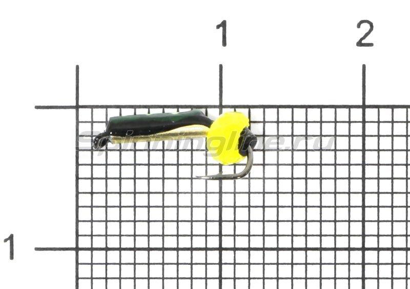 Мормышка Санхар Столбик №1 d1.5 кристалл желтый, латунь -  1