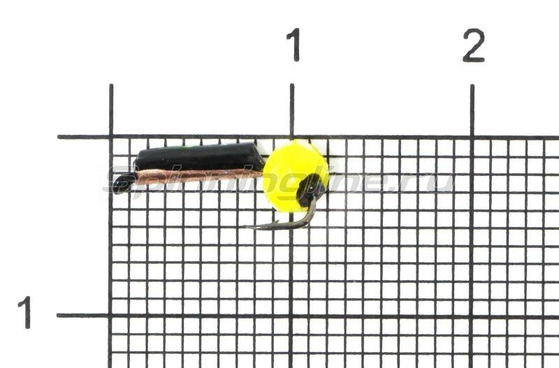 Мормышка Санхар Столбик №1 d1.5 кристалл желтый, медь -  1