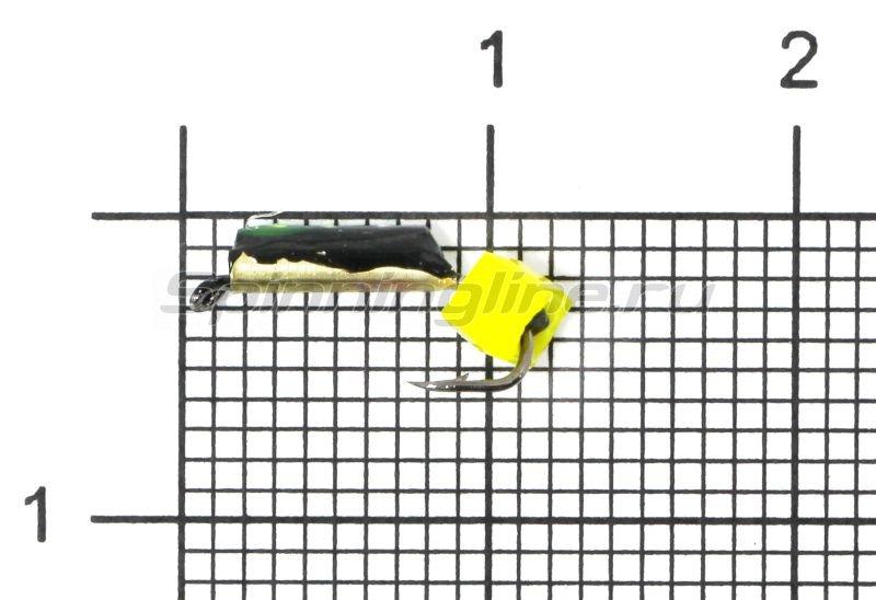 Мормышка Санхар Столбик №1 d1.5 кубик сырный, латунь -  1
