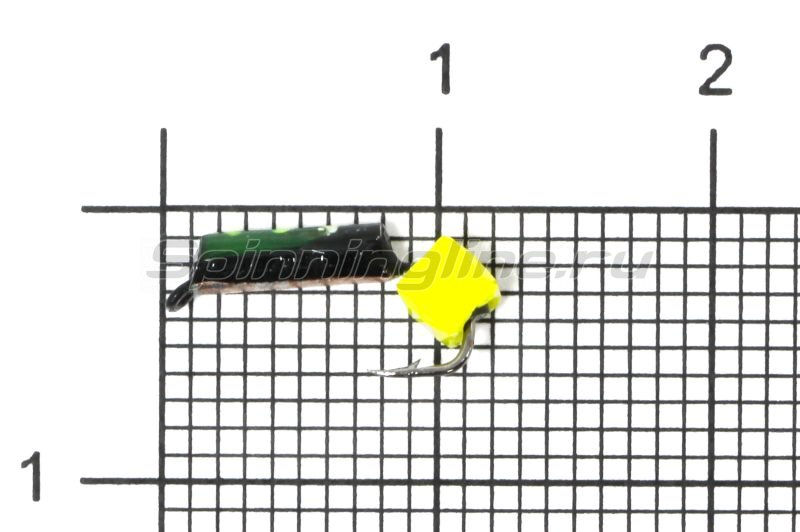 Мормышка Санхар Столбик №1 d1.5 кубик сырный, медь -  1