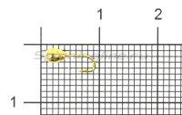 Мормышка Капля с отверстием d2.5 золото