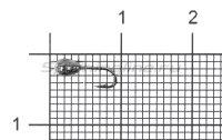 Мормышка Капля с отверстием d2.5 черный никель