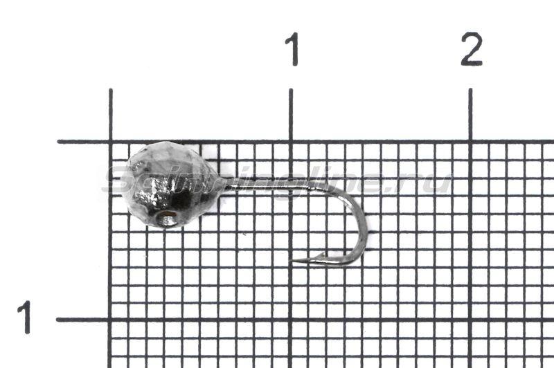 Мормышка Шар фигурный с отверстием d5 черный никель -  1