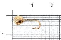 Мормышка LumiCom Шар фигурный с отверстием d5 медь