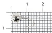 Мормышка LumiCom Шар фигурный с отверстием d6 никель
