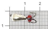 Мормышка LumiCom Коза капля d5 никель