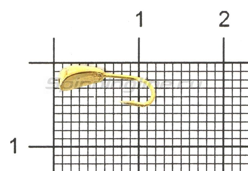 Мормышка Уралка волжская d3 золото -  1