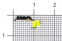 Мормышка Санхар Столбик №1 d1.5 флуоресцентный кубик желтый, латунь
