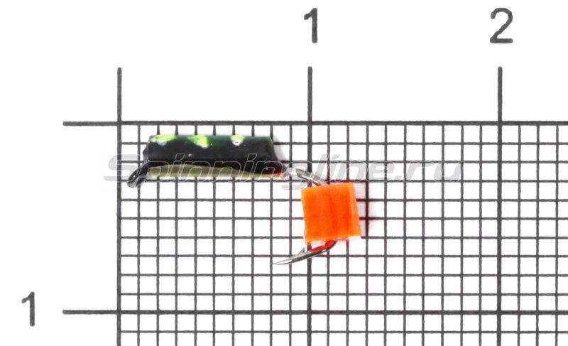 Мормышка Санхар Столбик №1 d1.5 флуоресцентный кубик оранжевый, латунь -  1